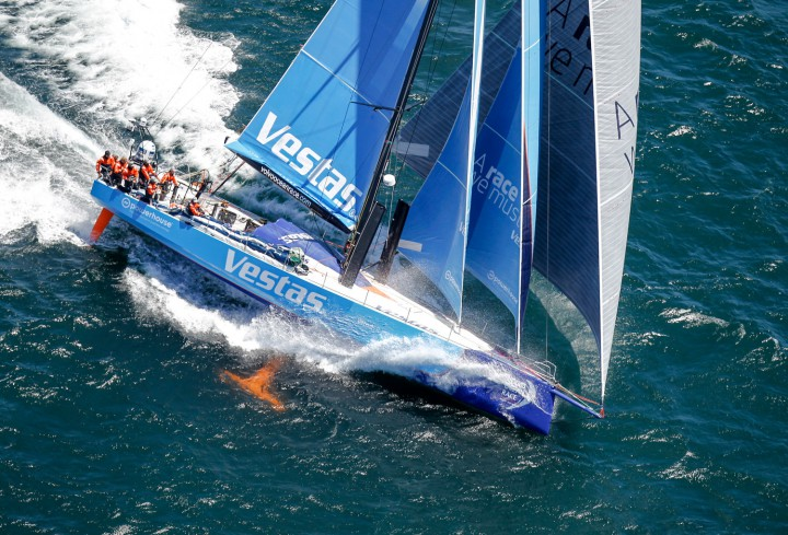 Team Vestas Wind approaches land in fourth place for Leg 1 from Alicante to Cape Town
